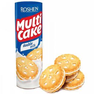 Roshen, 170 г, Печиво-сендвіч, Multicake, З молочною начинкою, м/у