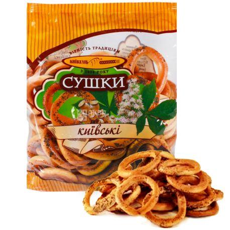 Kievkhleb, 420 g, Drying, Kiev, With poppy seeds, m / s