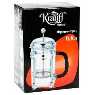 Krauff, 800 мл, Френч-пресс, 26-177-010, стекло