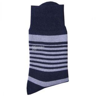 Duna, розмір 27-29, Шкарпетки чоловічі, Утеплені, Чорні, В смужку