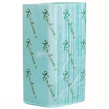 Кохавинка, 25 упаковок по 170 листов, Бумажные полотенца, однослойные, Z-сложения, 23х25 см