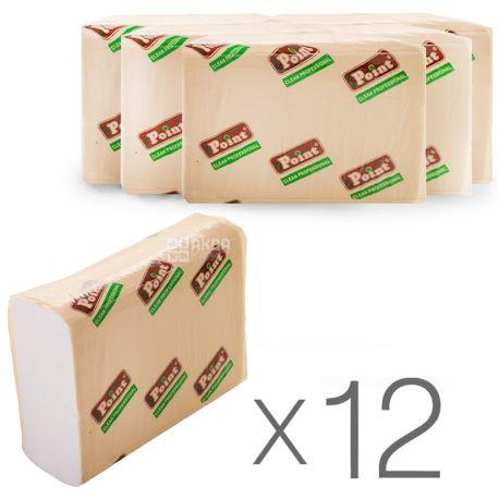 Mirus, Eco Point, 12 упаковок по 200 листов, Бумажные полотенца Мирус, 2-х слойные, ZZ-сложения, 22.5х22 см