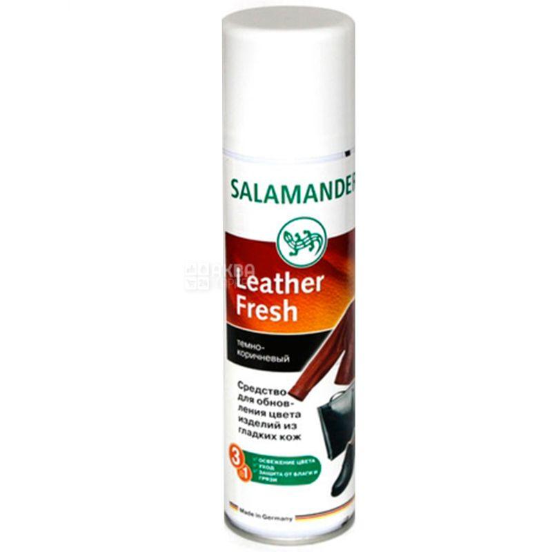 Salamander, 250 мл, Cпрей-фарба для гладкої шкіри, Темно-коричневий, ж/б
