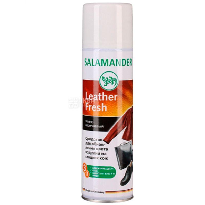 Salamander, 250 мл, Cпрей-краска для гладкой кожи, Темно-коричневый, ж/б