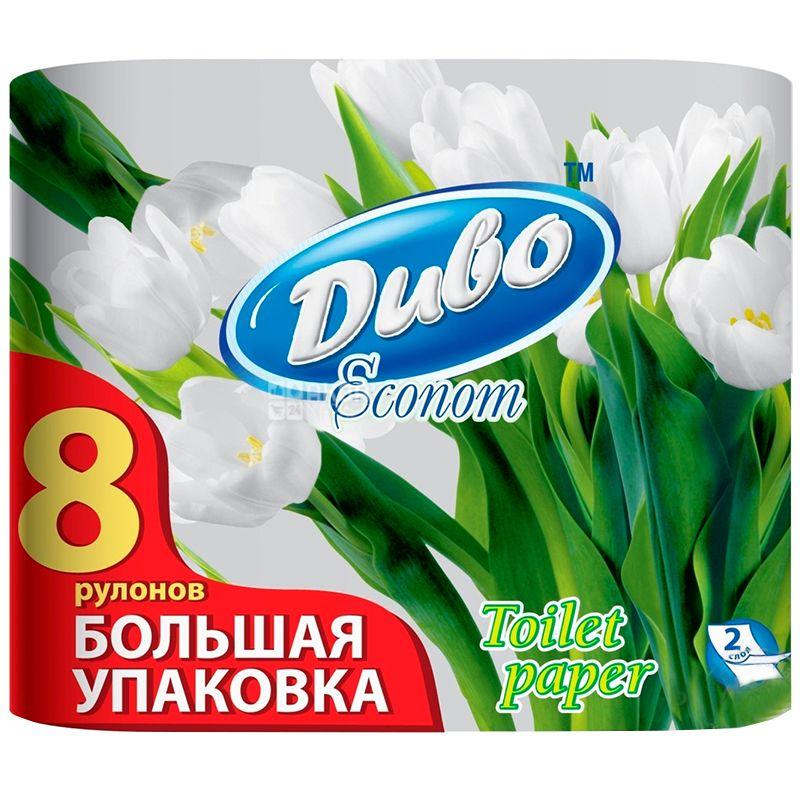 Диво Econom, 8 рул., Туалетний папір, Економ, 2-х шаровий