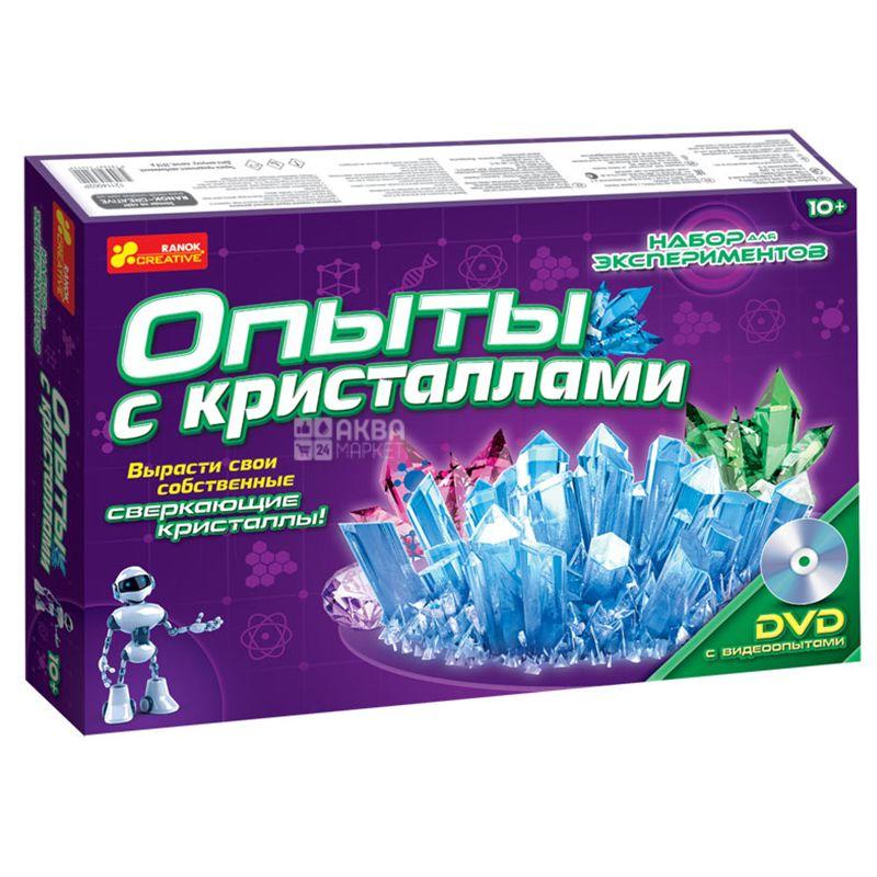 Ранок, Набор для экспериментов, Опыты с кристаллами, картон