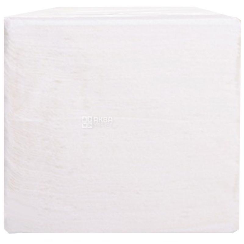 Барные салфетки, 6 упаковок по 500 шт., Однослойные, прочные, 22х22 см, белые