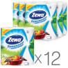 Zewa, 12 упаковок по 2 рул., Паперові рушники Зева, 2-шарові, 56 відривів, 14 м