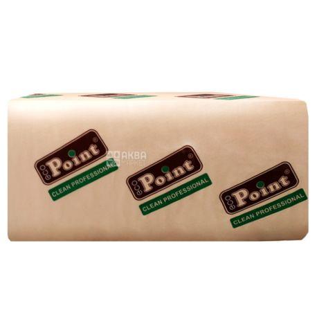 Mirus, Eco point, 160 аркушів, Паперові рушники Мирус, 2-шарові, V-складання, білі, 21х20 см