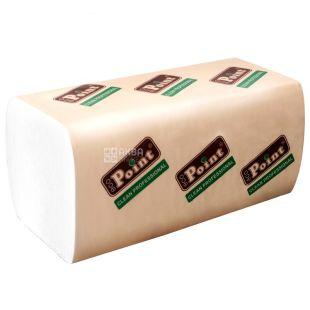 Mirus, Eco point, 160 аркушів, Паперові рушники Мирус, 2-шарові, білі, 21х20 см