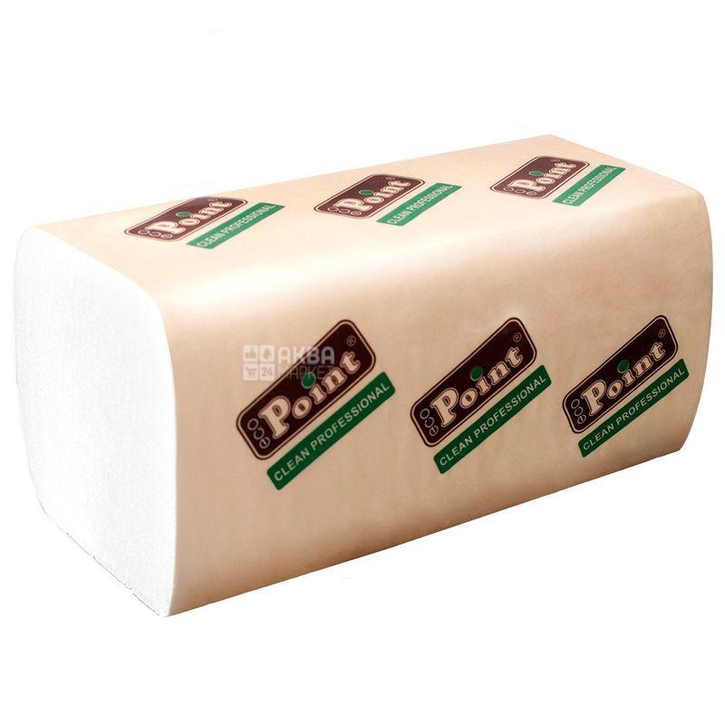 Mirus, 160 шт., Бумажные полотенца, Листовые, Двухслойные, Белые, м/у