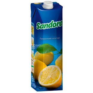 Sandora, Лимонный, 0,95 л, Сандора, Нектар натуральный