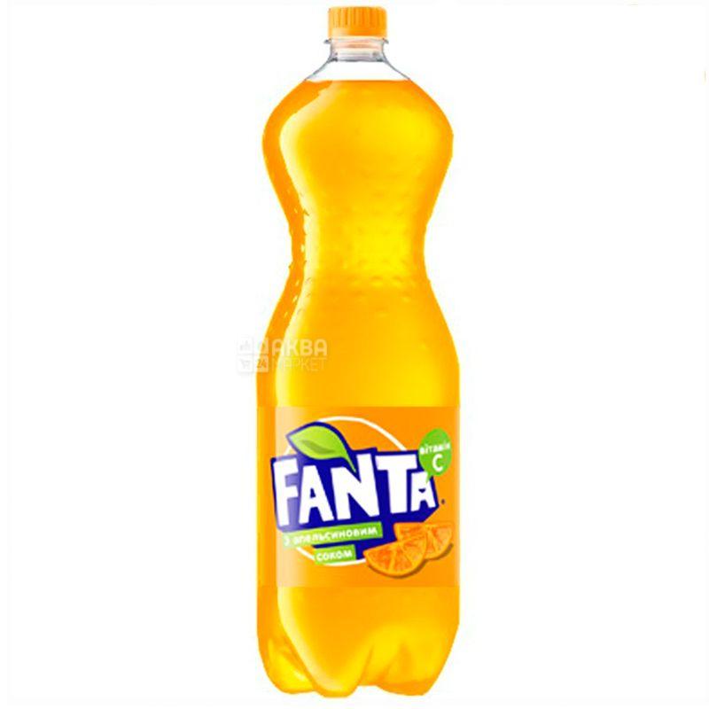 Fanta, Апельсин, Упаковка 6 шт. по 2 л, Фанта, Вода солодка, з натуральним соком, ПЕТ