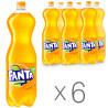 Fanta, Упаковка 6 шт. по 2 л, Сладкая вода, Апельсин, ПЭТ