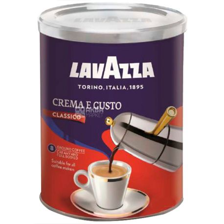 Лавацца Crema Gusto, 250 г, молотый кофе, ж/б