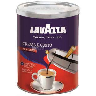 Lavazza, Crema Gusto, 250 г, Кофе Лавацца, Крема Густо, средняя обжарка, молотый, ж/б