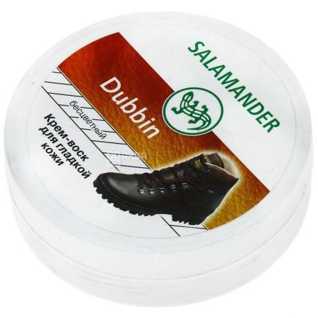 Salamander,100 мл, Крем-віск для взуття з гладкої шкіри, Нейтральний