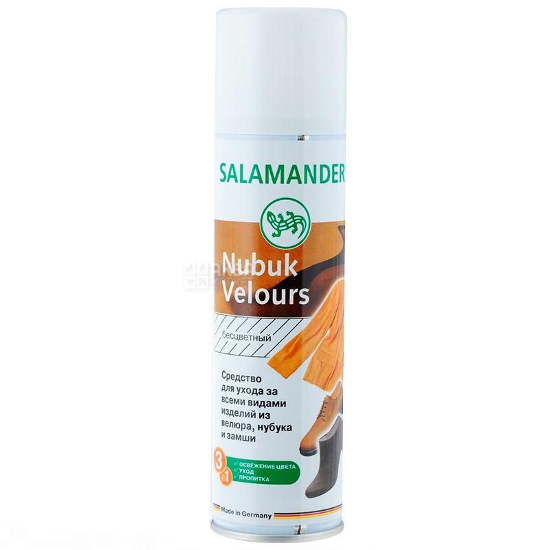 Salamander, 250 мл, Спрей-відновлювач для нубука і велюра, Nubuk Velours, Нейтральний, ж/б