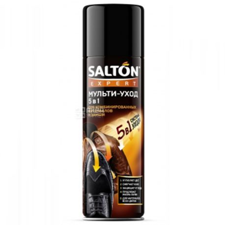 Salton, 250 мл, Спрей для обуви, Мульти-уход 5 в 1, ж/б