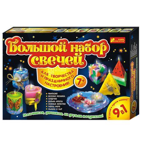 Ранок, Набір для творчості, Великий набір свічок 9 в 1, картон