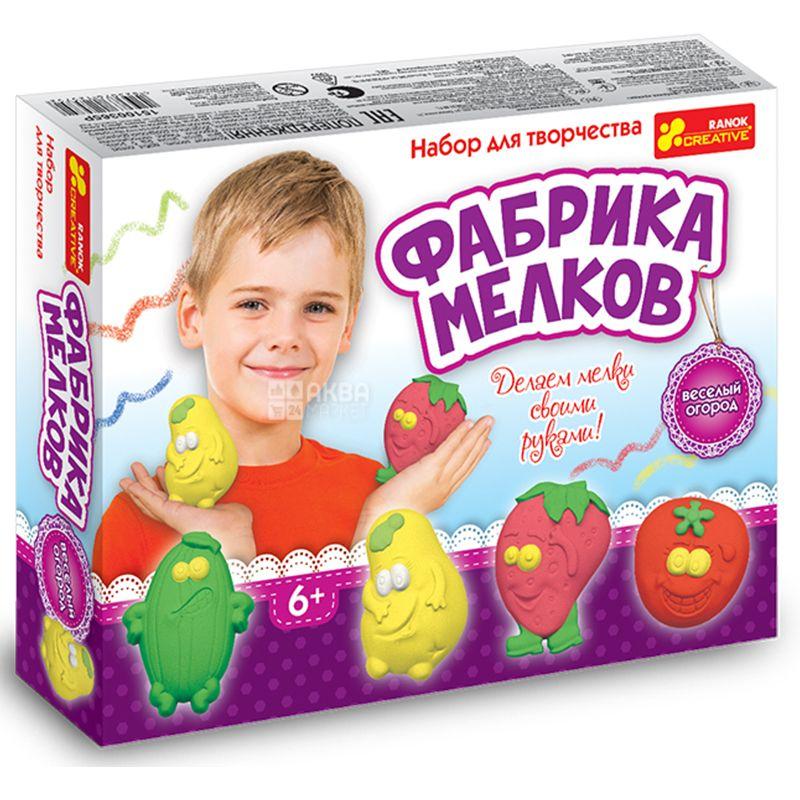 Ранок, Набор для творчества, Фабрика мелков, Веселый огород, картон