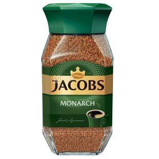 Jacobs Monarch, 190 г, Кава Якобс Монарх, розчинний, скло
