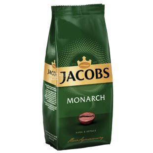 Jacobs Monarch, 250 г, Кофе Якобс Монарх, средней обжарки, в зернах