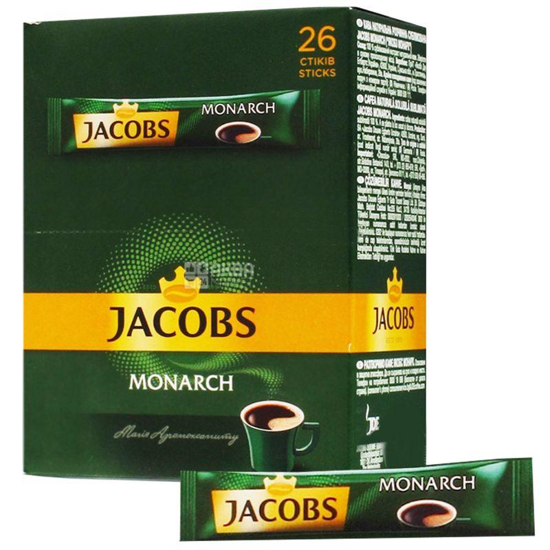 Jacobs Monarch, 26 шт. х 1,8 г, Кава Якобс Монарх, розчинний в стіках