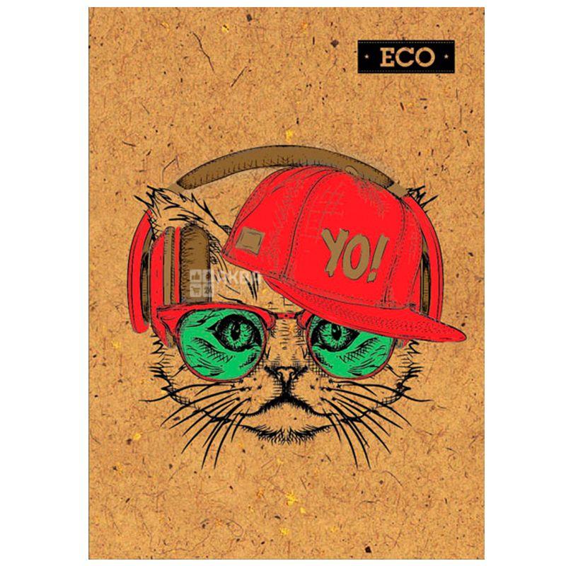 Mizar+, 160 листов, А5, Блокнот, ECO, Кот, клетка