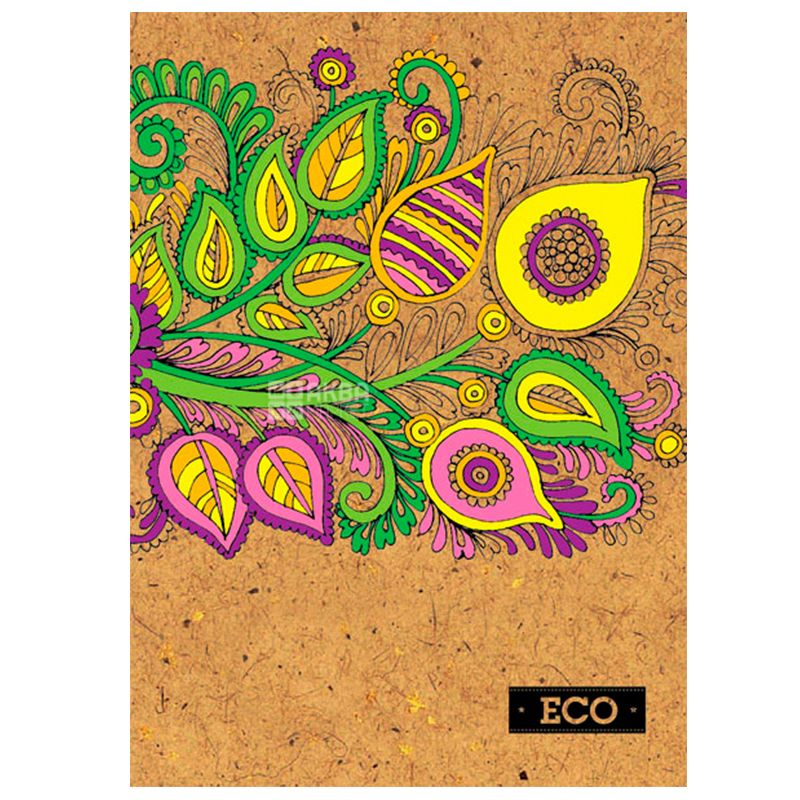 Mizar+, 160 аркушів, А5, Блокнот, ECO, Орнамент, Клітинка