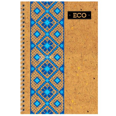 Mizar+, 80 листов А6, Блокнот, ECO, Вышиванка, Пружина, Клетка