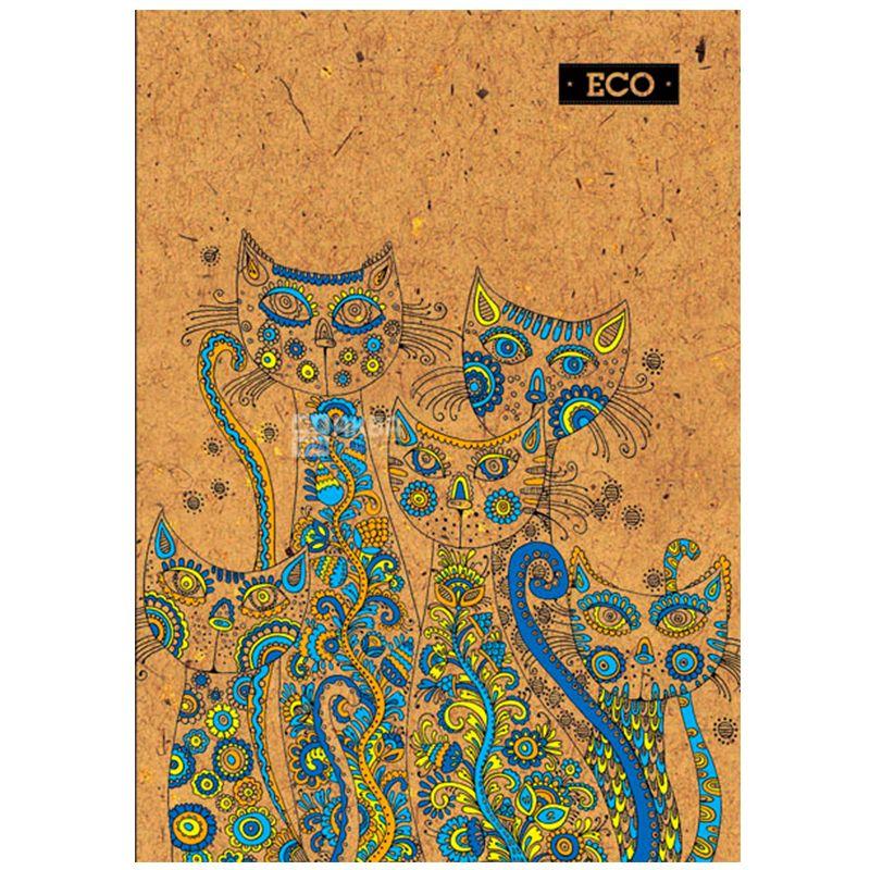 Mizar+, 80 аркушів, А4, Блокнот, ECO, Коти, Клітинка