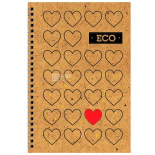 Mizar +, 80 sheets, A6, Notepad, ECO, Hearts, Spring, Cell