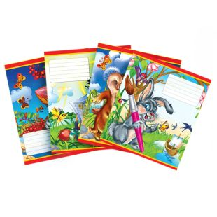 Mizar +, 1 pc., 12 sheets, A5, Notebook, Cat and Dog Series, Assorted, Cage
