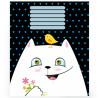 Mizar+, 1 шт., 18 листов, А5,Тетрадь, Серия Игривые котята, Ассорти, Линия