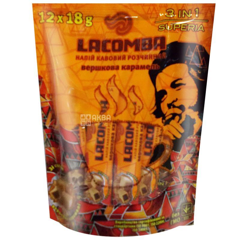 LACOMBA, 12 шт., Кофейный напиток, Superia 3 в 1, Сливочная карамель, в стиках
