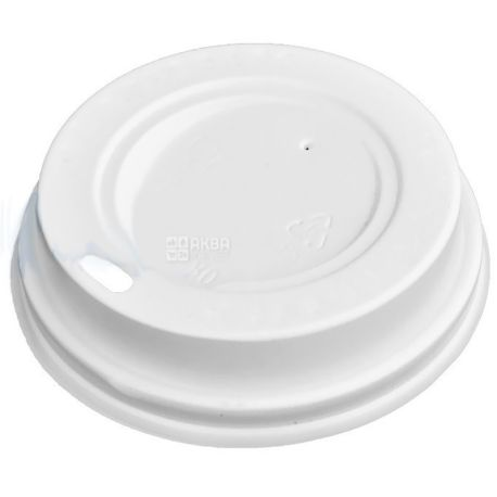 Cover for a disposable glass of 175/180 ml, White, 50 pieces, D71