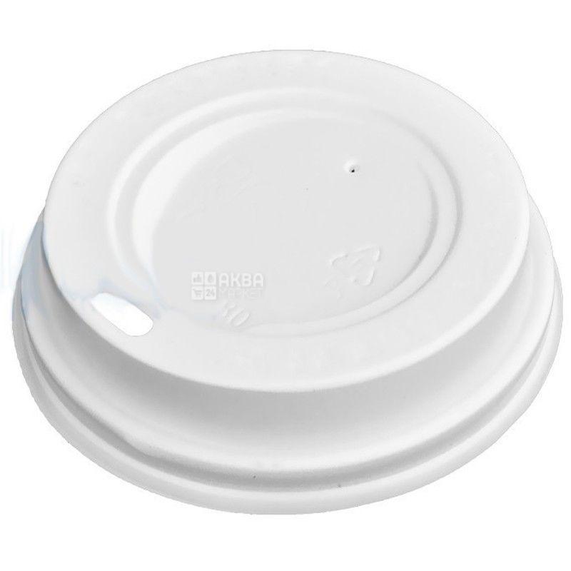 Крышка для одноразового стакана 175/180 мл, Белая, 50 шт, D71