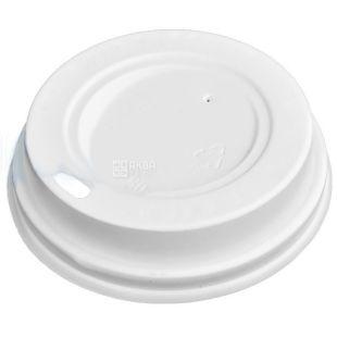 Крышка для одноразового стакана 250 мл, Белая, 50 шт, D80