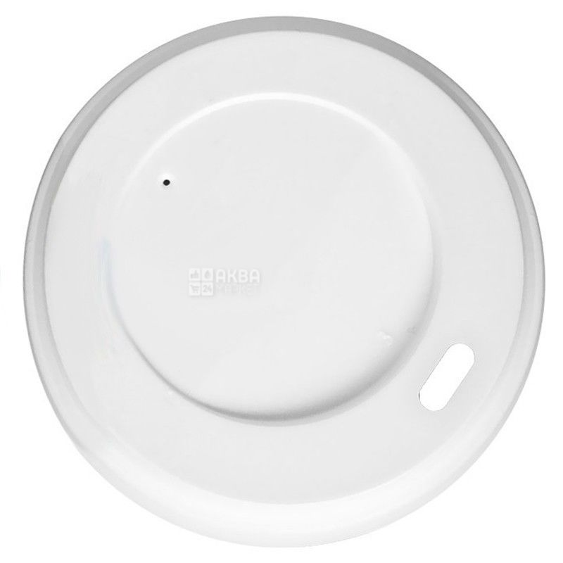 Кришка для одноразового стакана 400 мл,Біла, 50 шт, D92
