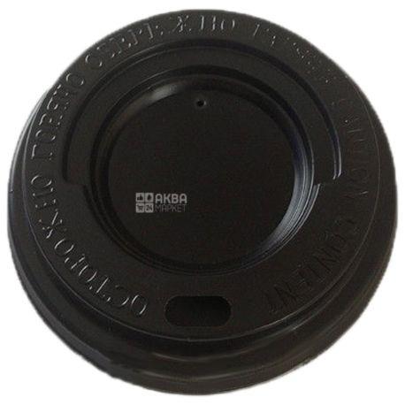 Кришка для одноразового стакана 400 мл, Коричнева, 50 шт, D92