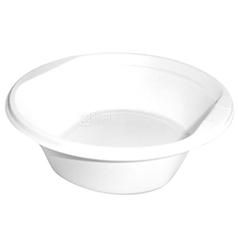 Тарелка пластиковая, Глубокая, 17 см, 100 шт.
