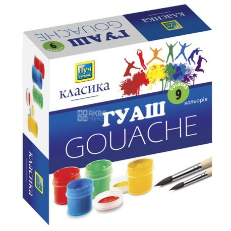 Ray Gouache Classic, 20 ml, 9 colors, cardboard