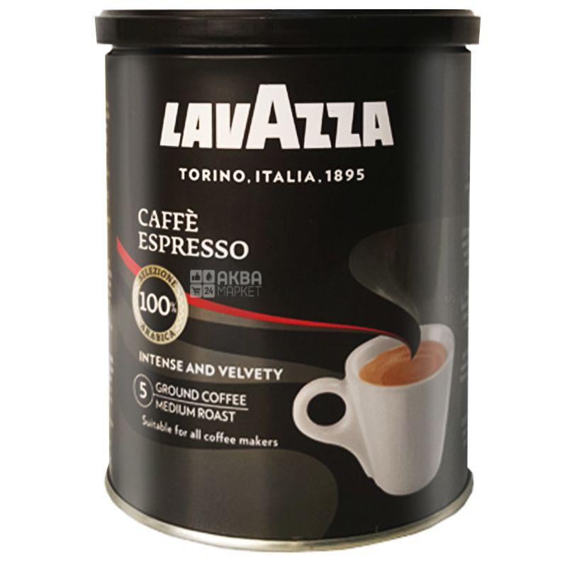 Lavazza, Arabica Espresso, 250 г, Кофе Лавацца, Арабика Эспрессо, средней обжарки, молотый, ж/б