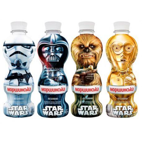 Моршинская, 0,33 л, негазированная вода для детей Star Wars, Ассорти, ПЭТ