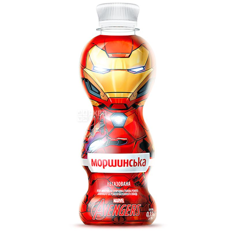 Morshynska, 0.33 l, still water for children Marvel, Assorted, PET, PAT