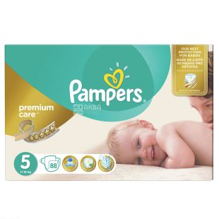 Pampers, diapers, 88 pcs., 11-18 kg, Premium Care