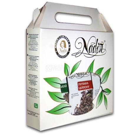 Nadin, Ассорти,150 г, Чай Надин, Подарочный набор из 3-х видов чая