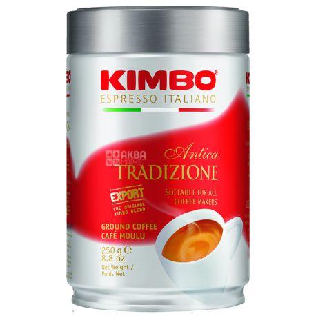 Kimbo Antica Tradizione, 250 г, Кофе Кимбо Антика Традиционе, темной обжарки, молотый, ж/б