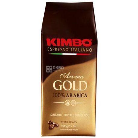 Kimbo Aroma Gold, 1 кг, Кава Кімбо Арома Голд, середнього обсмаження, в зернах